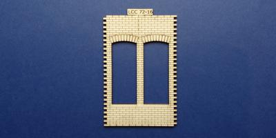 LCC 72-16 O gauge double square window panel